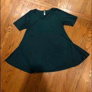 LulaRoe dark green perfect T-shirt short sleeve M